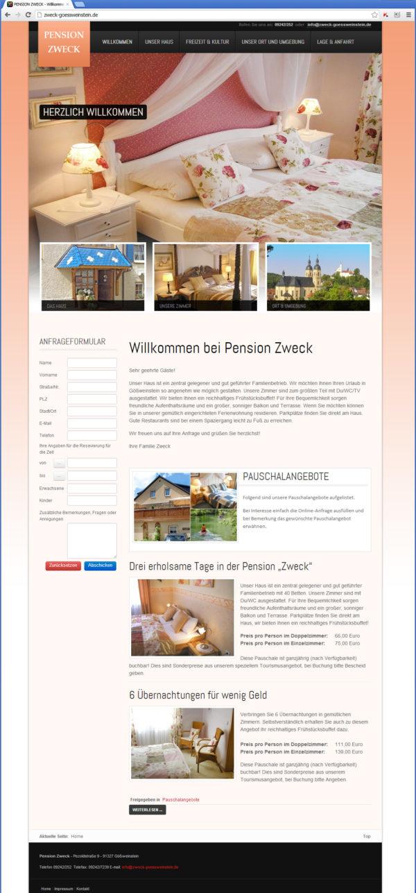 Zweck Goessweinstein Hotel