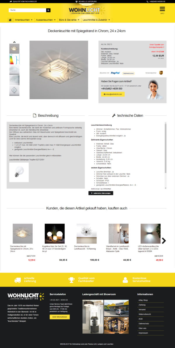 eBay Shop Design ✓ Professionell ✓ Mobile & 2017 Template ✓ Mit ...