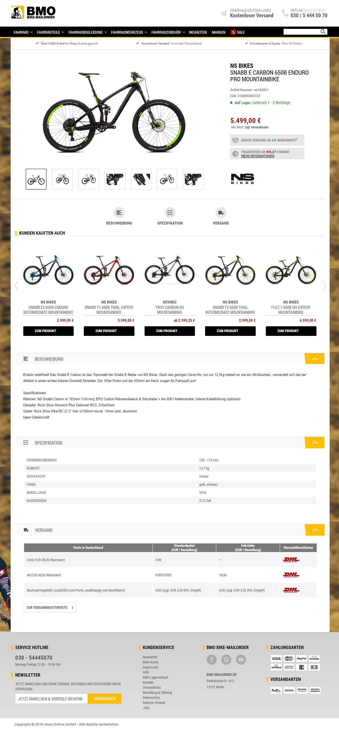 Bike Mailorder
