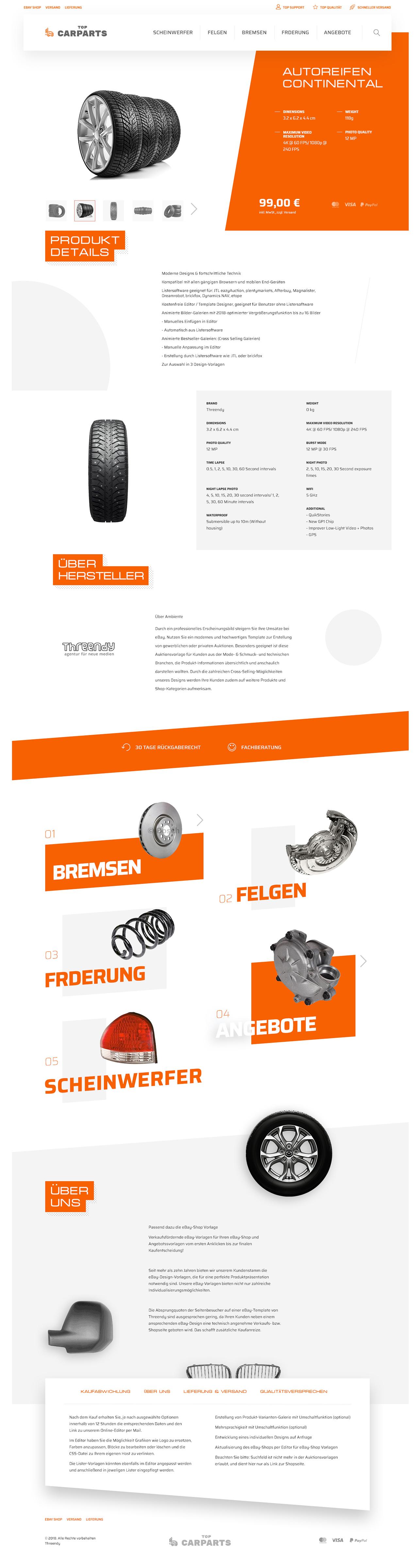 KFZ-Ersatzteile & Auto-Teile Branche eBayvorlage