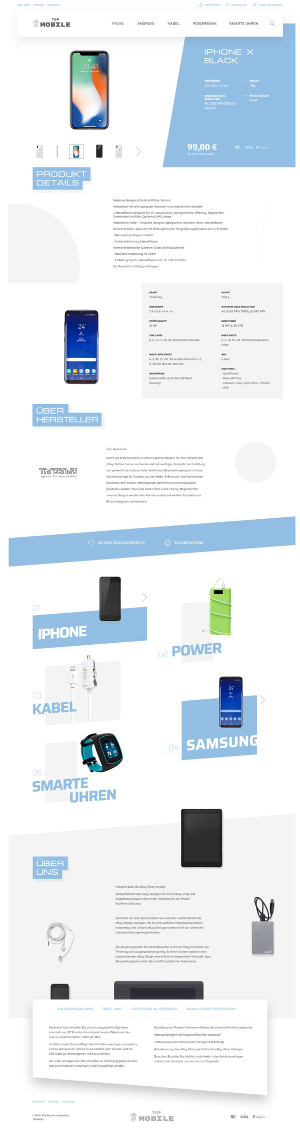 Auktion Template Mobile, Tablet & Smartphone Zubehör Branche