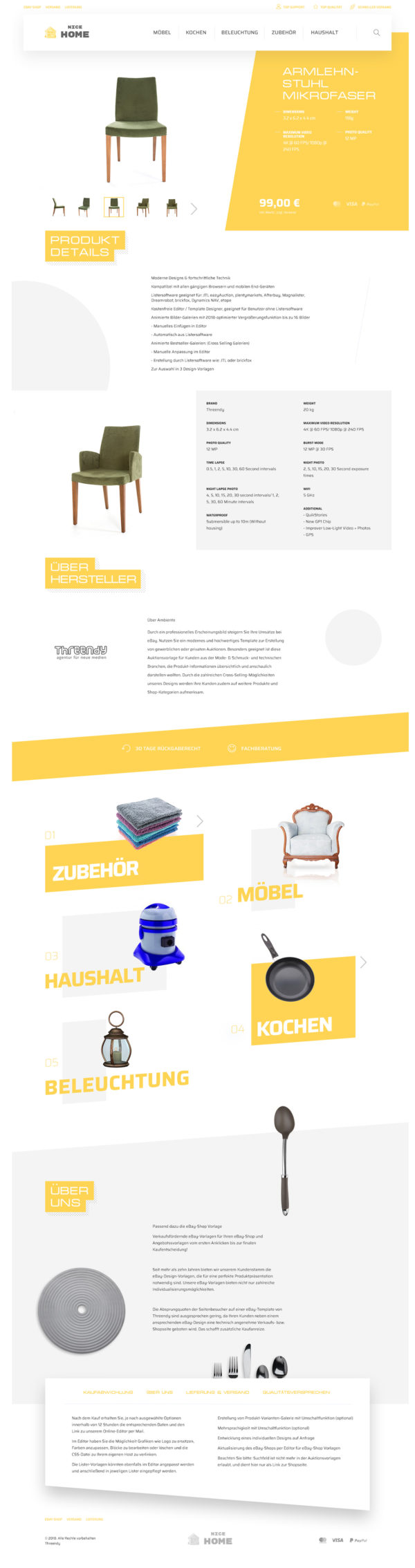 eBay Angebotsvorlage für Möbel & Haushalt Branche