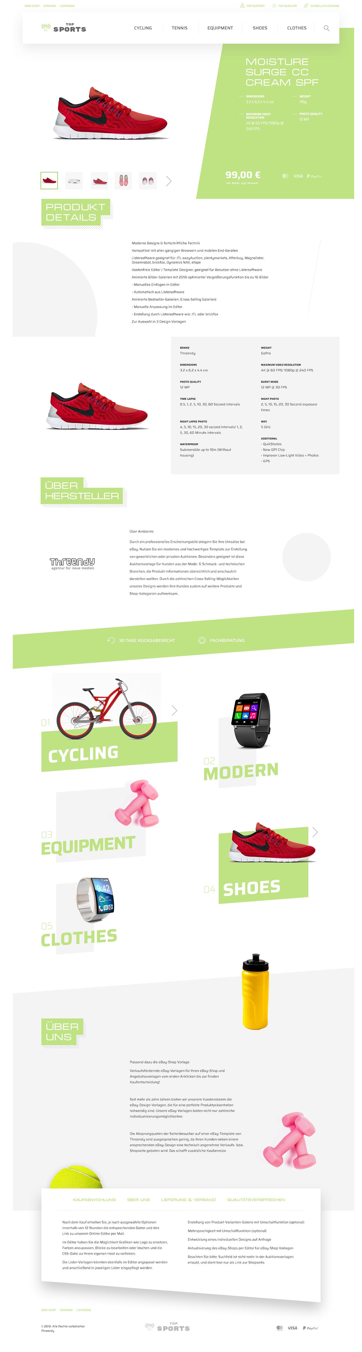 Branchen eBayvorlage für Sport, Freizeit & Hobby