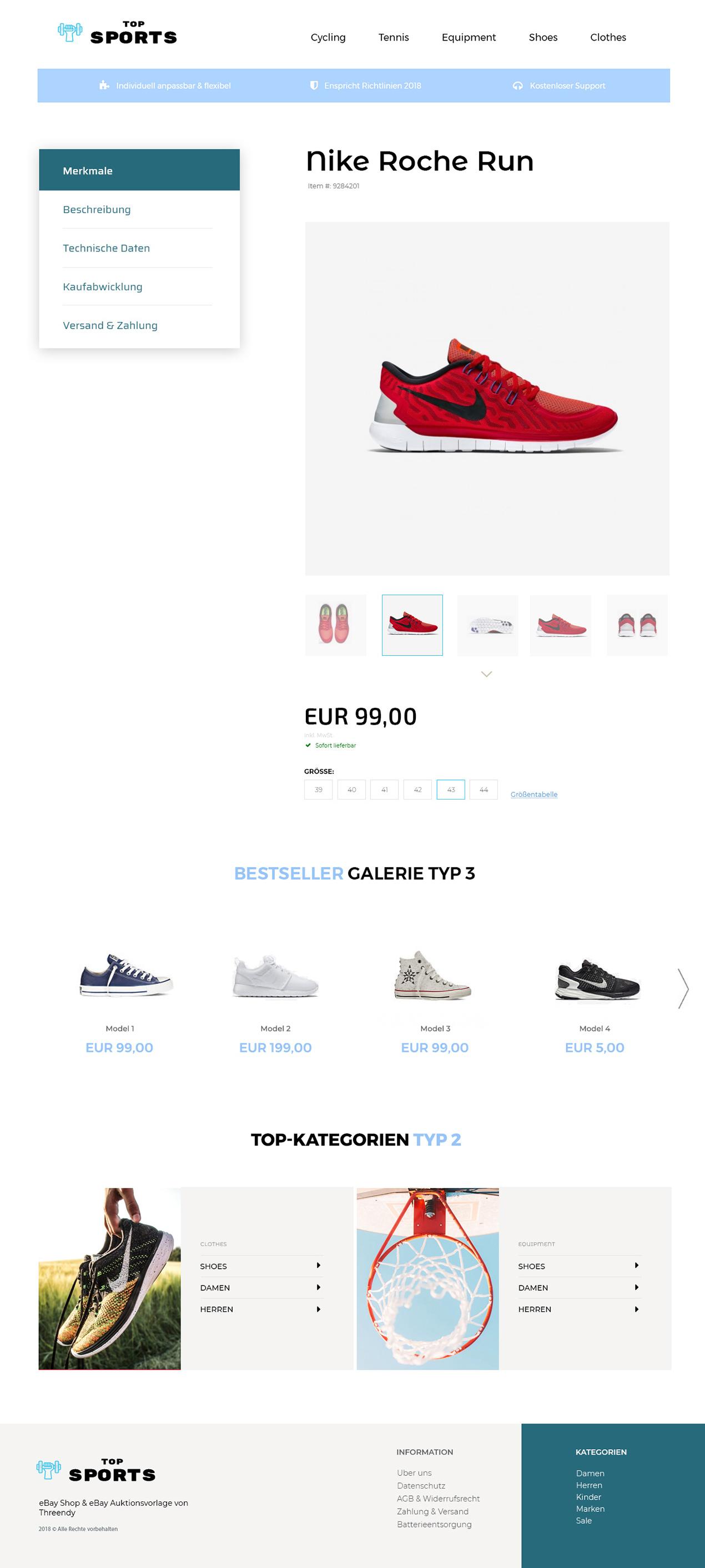 Sport & Hobby eBay Angebotvorlage