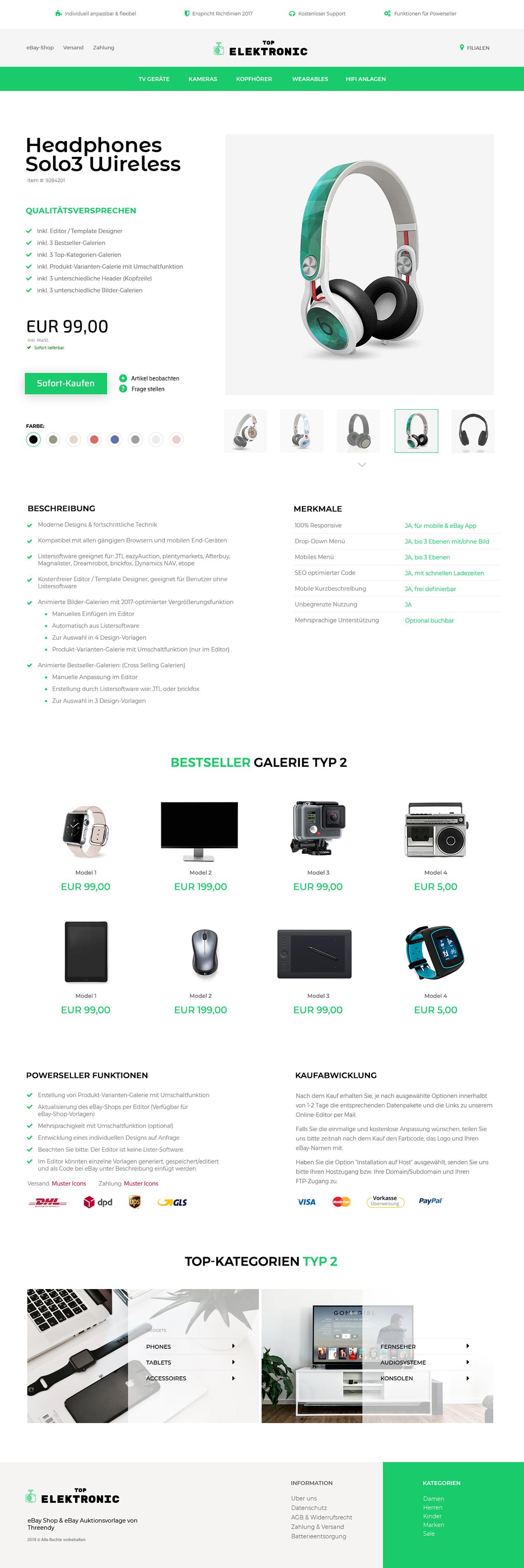 eBayvorlage für Computer & PC-Teile Branche